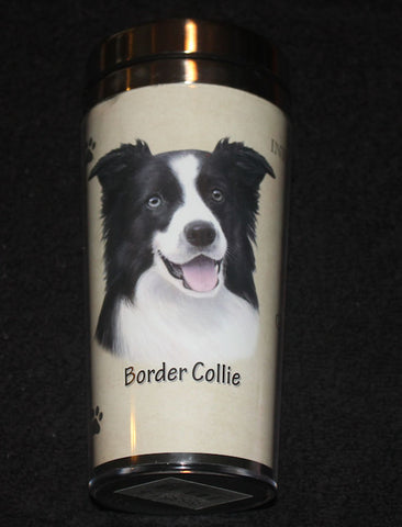 Border Collie Stainless Steel Travel Tumbler