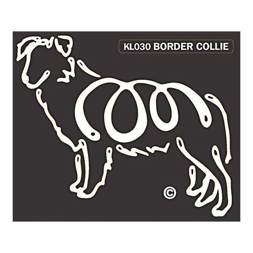 K Line Border Collie Dog Window Decal Tattoo