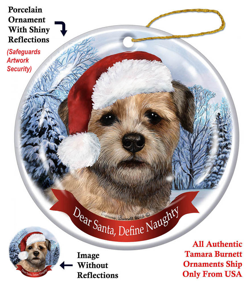 Border Terrier Howliday Dog Christmas Ornament