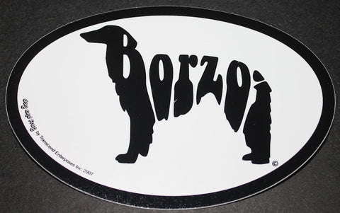 Borzoi Russian Wolfhound Euro Dog Breed Car Sticker Decal