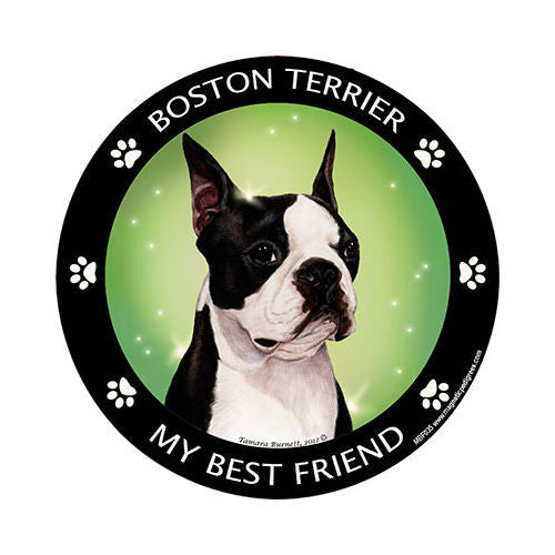 Boston Terrier My Best Friend Dog Breed Magnet