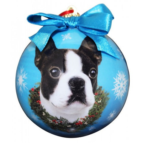 Boston Terrier Shatterproof Dog Breed Christmas Ornament