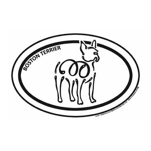 Boston Terrier Euro K Line Magnet