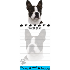 Boston Terrier List Stationery Notepad