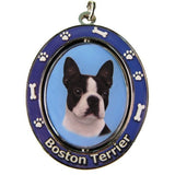 Boston Terrier Dog Spinning Keychain