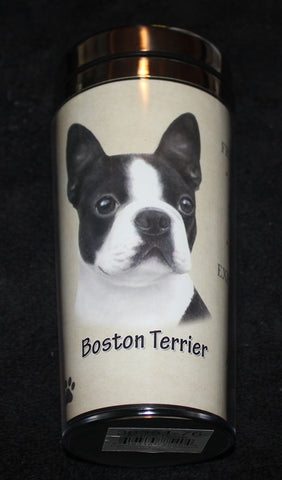 Boston Terrier Stainless Steel Travel Tumbler