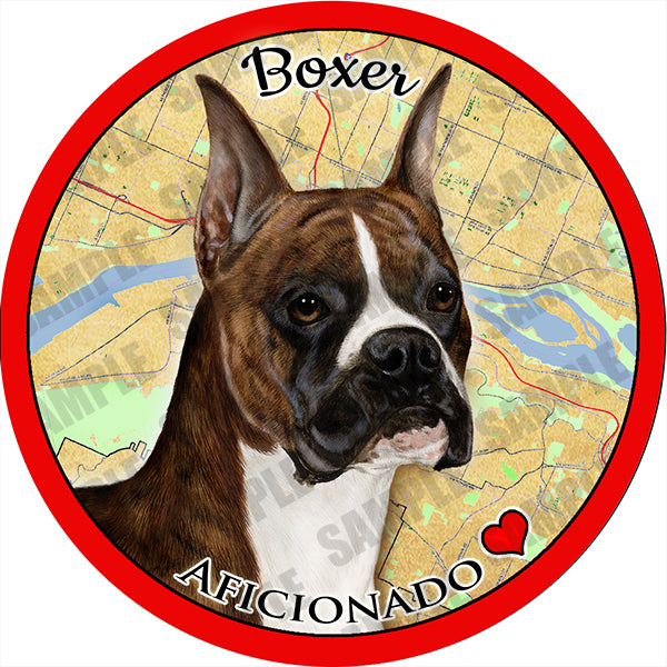 Boxer Cropped Brindle Absorbent Porcelain Dog Breed Car Coaster