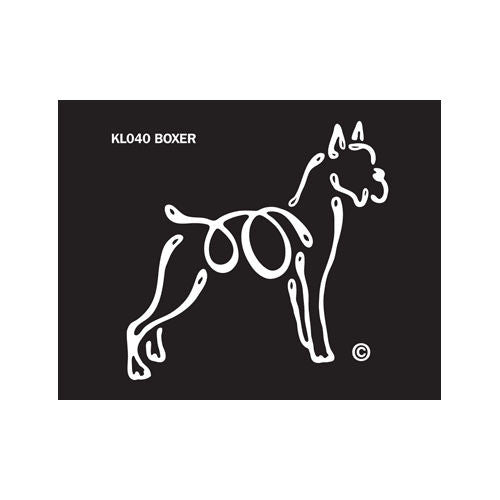 K Lines Boxer Cropped Car Window Tattoo Decal
