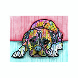 Boxer Dean Russo Vinyl Dog Car Sticker