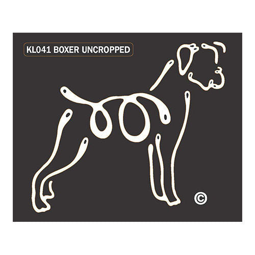 K Lines Boxer Uncropped Window Tattoo Decal