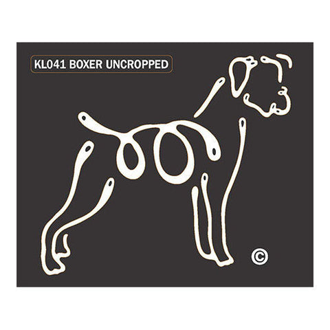 Boxer Uncropped K Lines Window Tattoo Decal