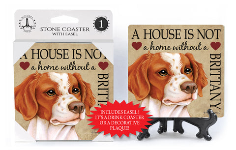 Brittany A House Is Not A Home Stone Drink Coaster