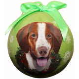 Brittany Spaniel Shatterproof Dog Breed Christmas Ornament