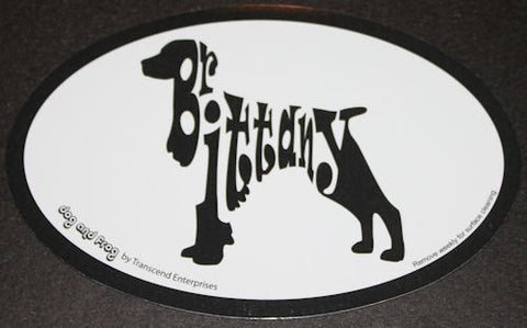 Brittany Spaniel Euro Dog Breed Car Sticker Decal