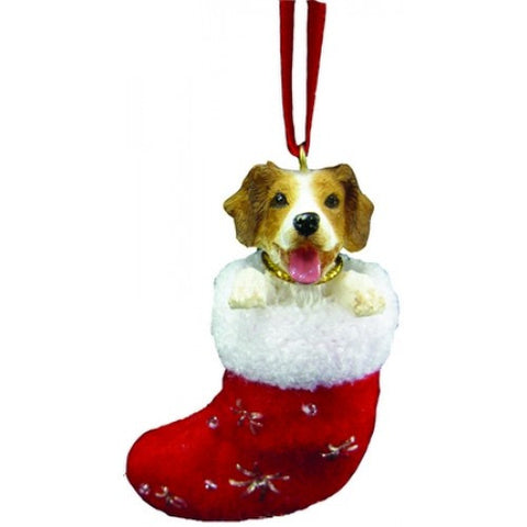 Santa's Little Pals Brittany Spaniel Christmas Ornament