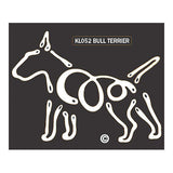 K Line Bull Terrier Dog Window Decal Tattoo