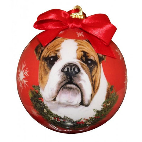 Bulldog Shatterproof Dog Christmas Ornament