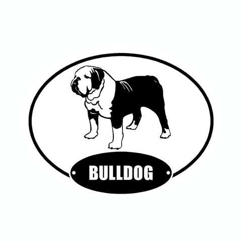 Bulldog Euro Vinyl Dog Car Sticker