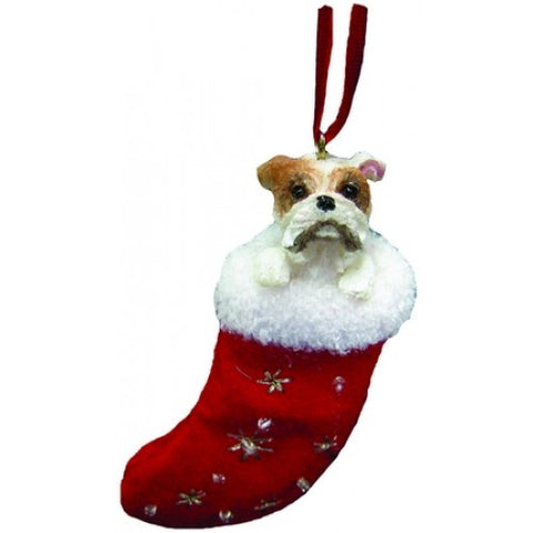 Santa's Little Pals Bulldog Christmas Ornament