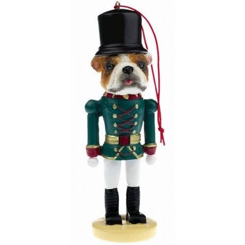 Bulldog Dog Toy Soldier Nutcracker Christmas Ornament