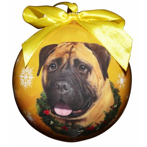 Bullmastiff Shatterproof Dog Christmas Ornament