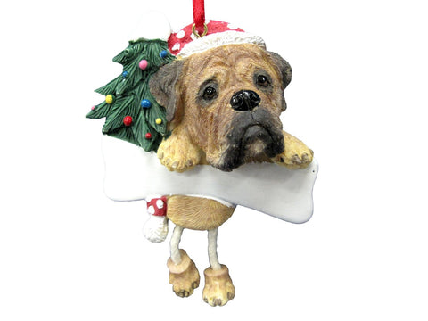 Dangling Leg Bullmastiff Christmas Ornament