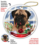 Bullmastiff Howliday Dog Christmas Ornament