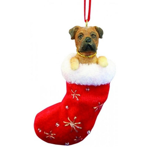 Santa's Little Pals Bullmastiff Christmas Ornament