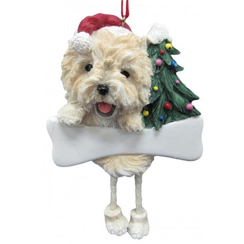 Dangling Leg Cairn Terrier Christmas Ornament