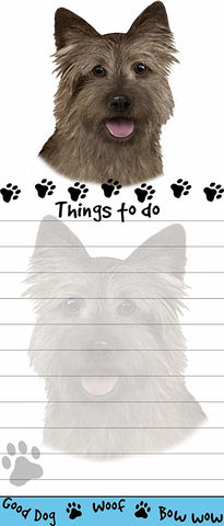 Cairn Terrier List Stationery Notepad
