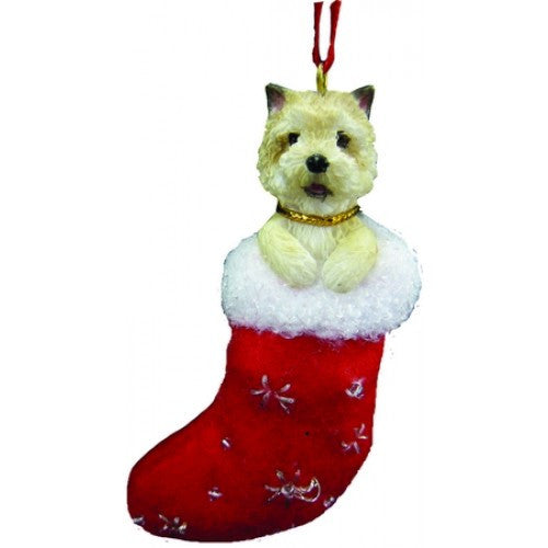Santa's Little Pals Cairn Terrier Dog Christmas Ornament
