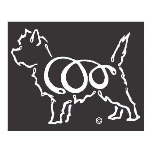 K Line Cairn Terrier Dog Window Decal Tattoo