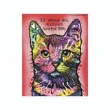 Cat I'd Spend All Nine Lives With You Dean Russo Vinyl Dog Car Sticker