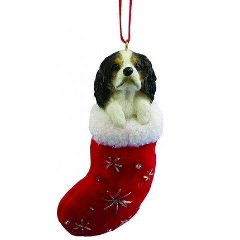 Santa's Little Pals Cavalier King Charles Spaniel Black Christmas Ornament