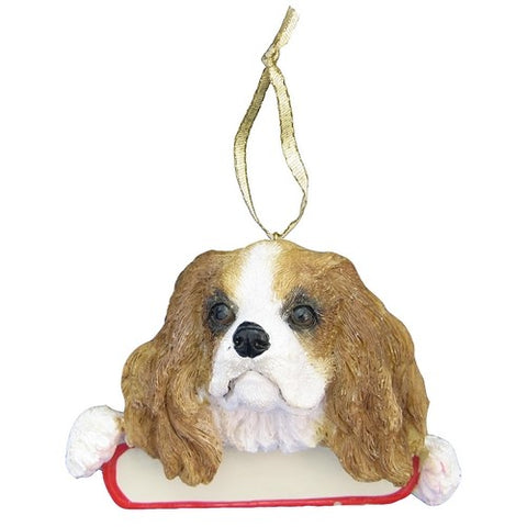 Cavalier King Charles Santa's Pal Christmas Ornament