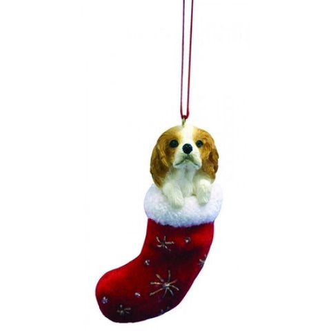 Santa's Little Pals Cavalier King Charles Red Dog Christmas Ornament