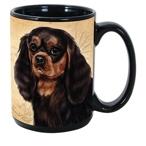 Faithful Friends Cavalier King Charles Spaniel Black Dog Breed Coffee Mug