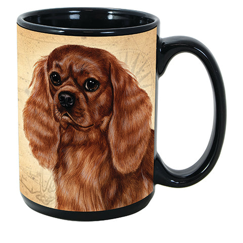 Faithful Friends Cavalier King Charles Ruby Dog Breed Coffee Mug