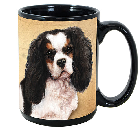Faithful Friends Cavalier King Charles Tri Dog Breed Coffee Mug