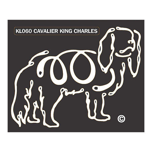 K Lines Cavalier King Charles Car Window Tattoo Decal