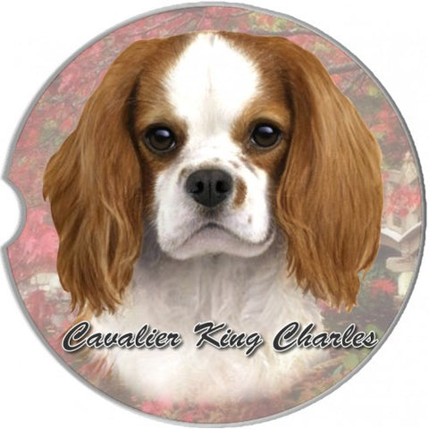 Cavalier King Charles Spaniel Red Sandstone Absorbent Dog Breed Car Coaster