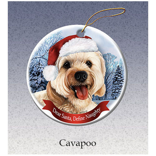 Cavapoo Howliday Dog Christmas Ornament