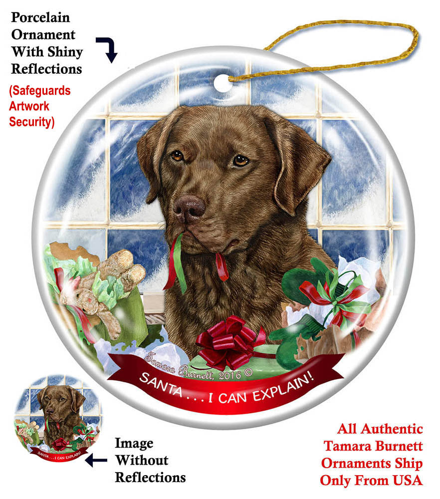 Chesapeake Bay Retriever Howliday Dog Christmas Ornament