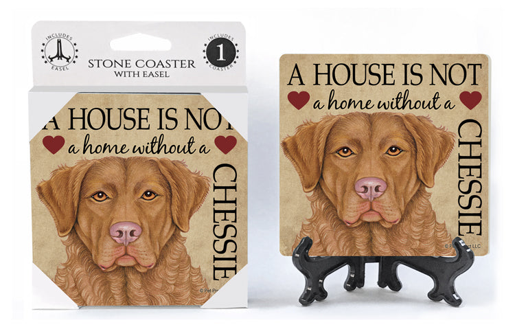 Chesapeake Bay Retriever A House Is Not A Home Stone Drink Coaster