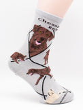 Chesapeake Bay Retriever Dog Breed Novelty Socks Gray