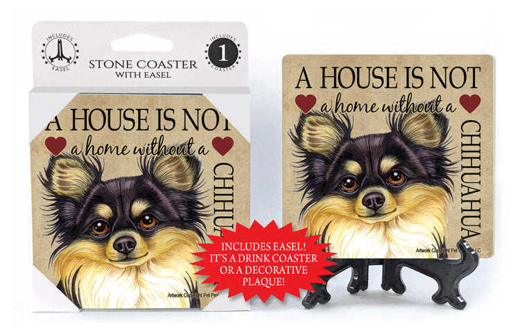 Chihuahua A House Is Not A Home Stone Drink Coaster