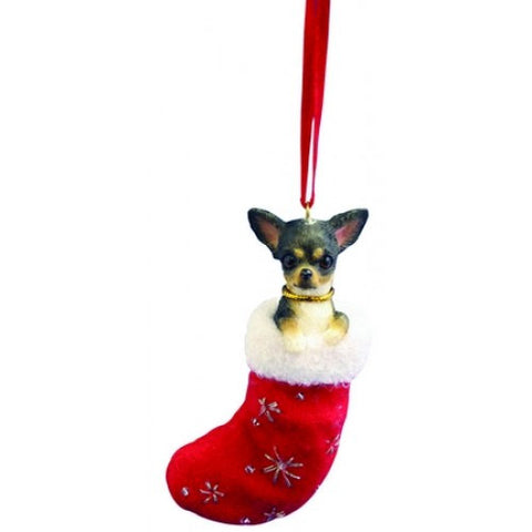 Santa's Little Pals Chihuahua Black Christmas Ornament