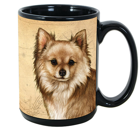 Faithful Friends Chihuahua Long Hair Dog Breed Coffee Mug