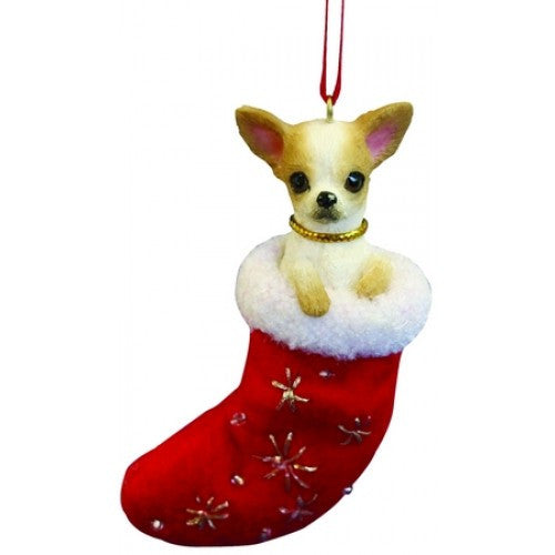 Santa's Little Pals Chihuahua Tan Christmas Ornament