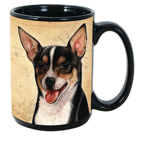 Faithful Friends Chihuahua Short Hair Tri Dog Breed Coffee Mug